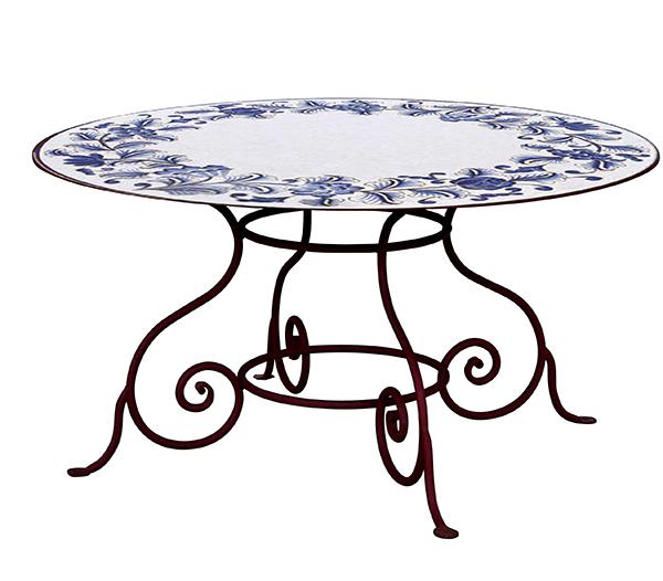 Tavolo da esterni cimabue tavoli ferro battuto - Tavoli in ferro battuto per esterni ...