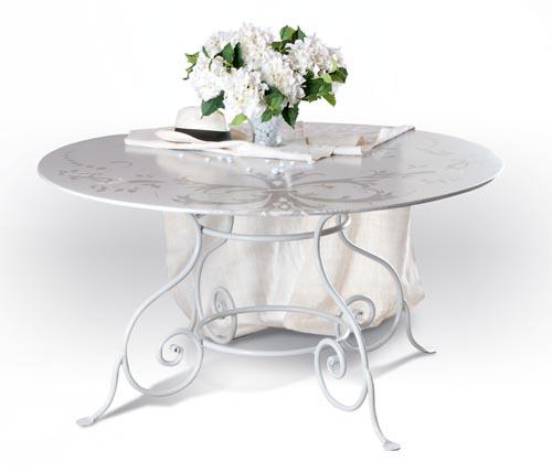 Tavoli da esterno tavoli ferro battuto - Tavolo ferro battuto e vetro ...
