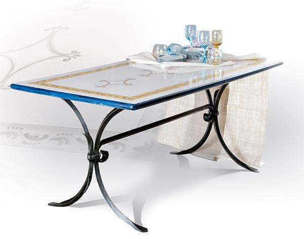 Tavolo da esterni GIOTTO - tavoli ferro battuto