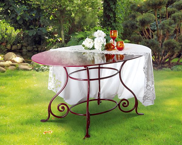 Tavolo da esterni galileo tavoli ferro battuto - Tavolo giardino ferro battuto ...