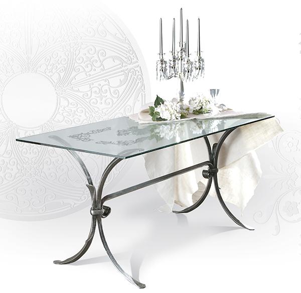 Tavolo da interni GIOTTO - tavoli ferro battuto